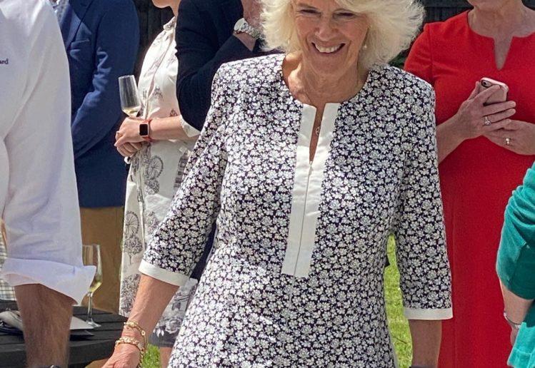 Duchess of Cornwall visits Llanerch. Image: Jo Wallace